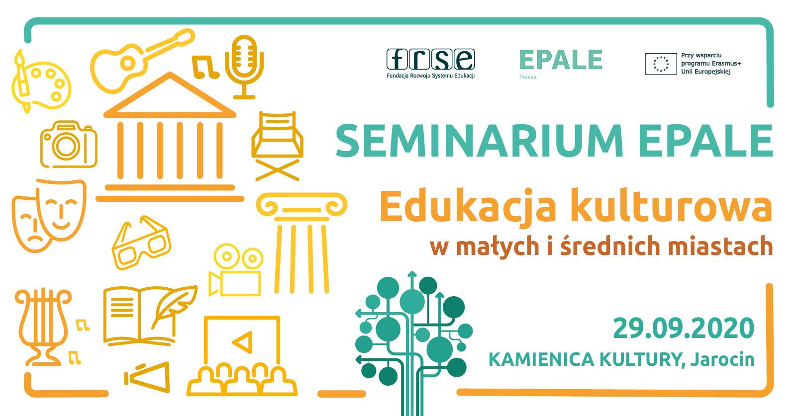 Seminarium EPALE: Edukacja kulturowa w małych i średnich miastach 29 września br. Polecamy! Zapraszamy!