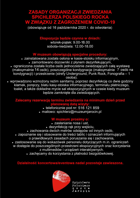 Uwaga! Zmiana obostrzeń dotyczących liczby zwiedzających wystawę od 16 października.