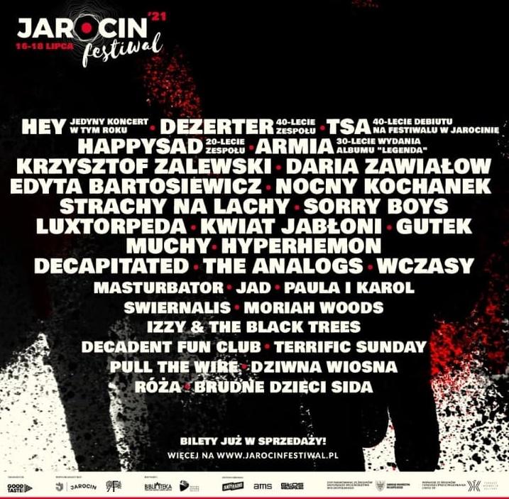Jarocin Festiwal 2021 – znamy pełen line up