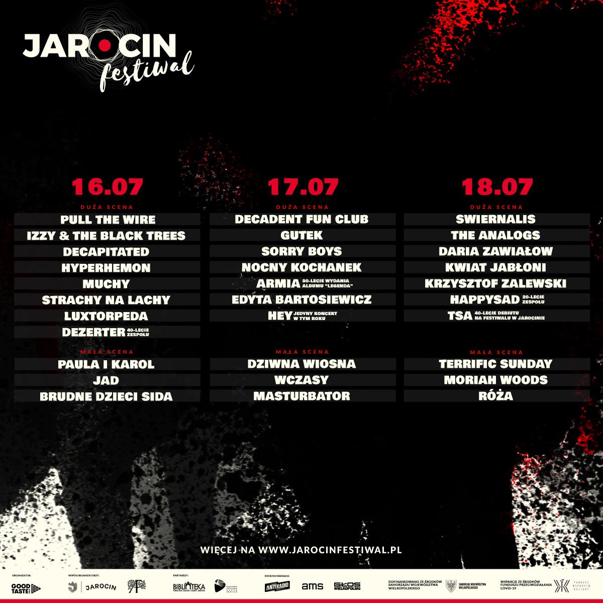 Jarocin Festiwal 2021 – znamy podział na dni i dużą/małą scenę.