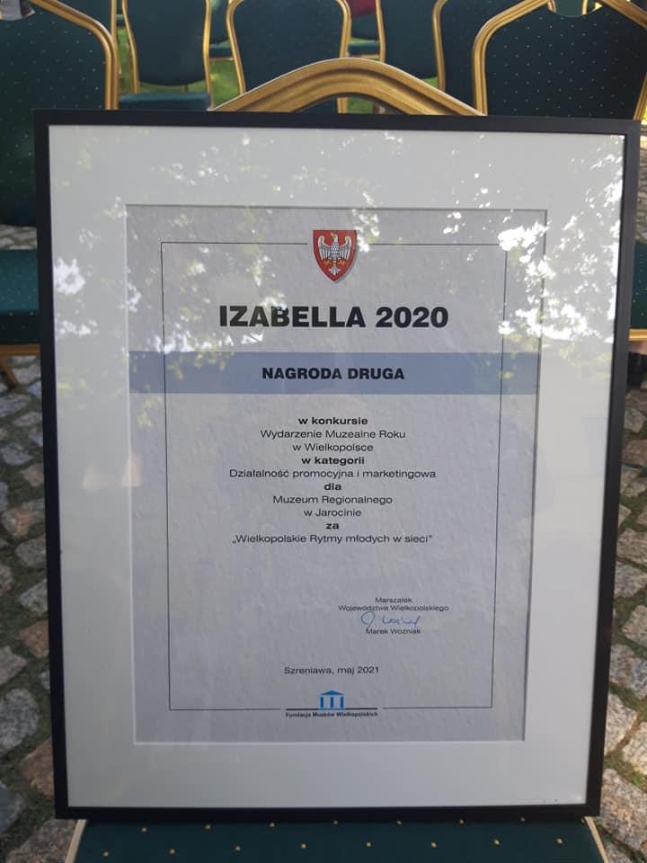 Izabella 2020 – odebraliśmy nagrodę :)