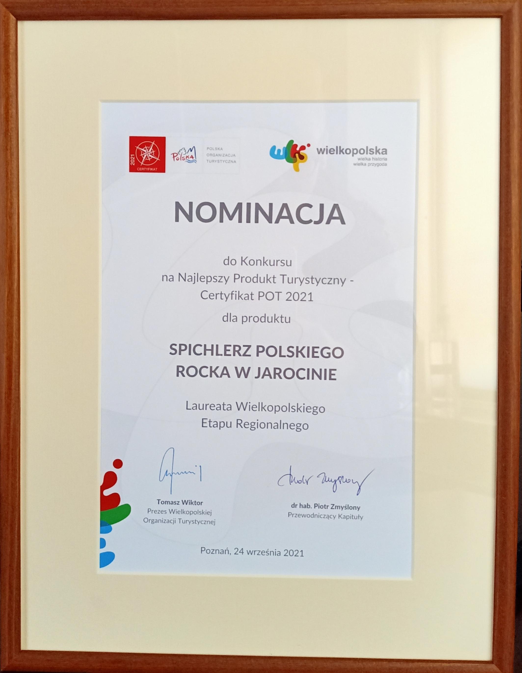Spichlerz Polskiego Rocka nominowany do ogólnopolskiego konkursu na Najlepszy Produkt Turystyczny.
